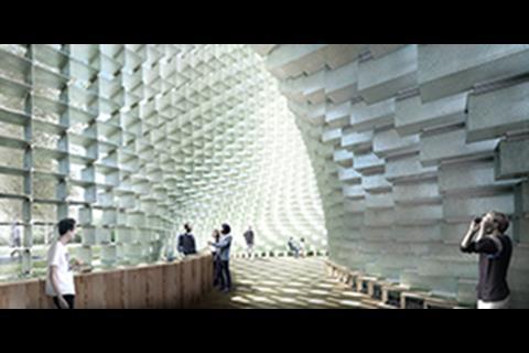 Cave - Serpentine Pavilion 2016 designed by Bjarke Ingels Group (BIG)